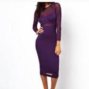 Purple Mesh ASOS dress